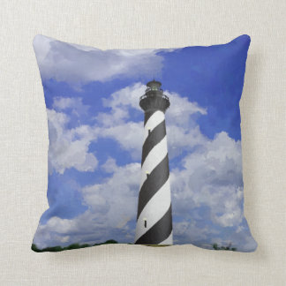 Cape Hatteras Lighthouse Painting Cushion