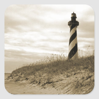 Cape Hatteras Lighthouse Square Sticker