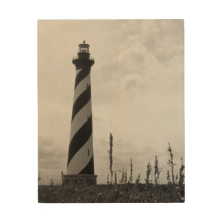 Cape Hatteras Lighthouse Wood Canvases