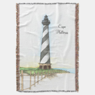 Cape Hatteras Lighthouse Woven Throw Blanket