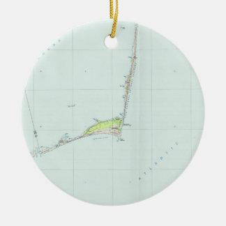Cape Hatteras National Seashore Map (1985) Christmas Ornament