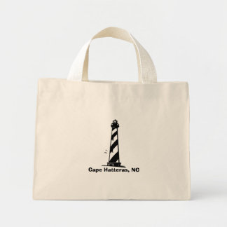 Cape Hatteras, NC - Lighthouse Mini Tote Bag
