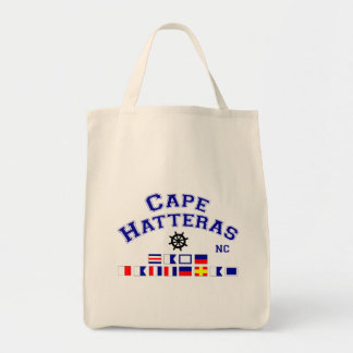 Cape Hatteras NC Signal Flags Grocery Tote Bag