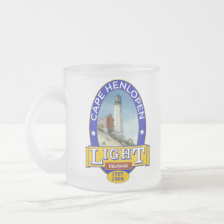 Cape Henlopen Lighthouse Frosted Glass Coffee Mug