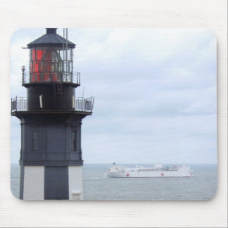 Cape Henry Lighthouse with a Ship Mouse Pad