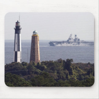 Cape Henry Lighthouses Mouse Mat