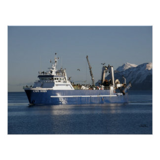 Cape Horn, Factory Trawler Fishing Vessel Poster