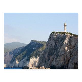 Cape Lefkas Lighthouse, Greece Post Card