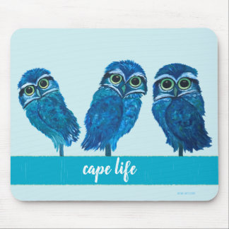 Cape Life Burrowing Owl Cape Coral FL Mouse Mat