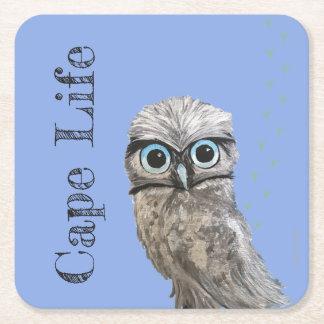 Cape LIfe Burrowing Owl Cape Coral Florida Square Paper Coaster