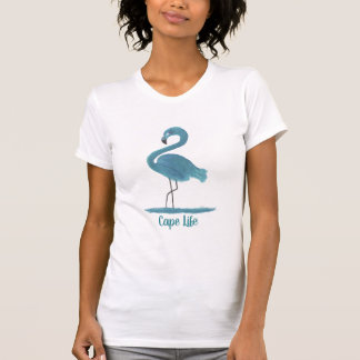 Cape Life Flamingo Art Painting Cape Coral Florida T-Shirt