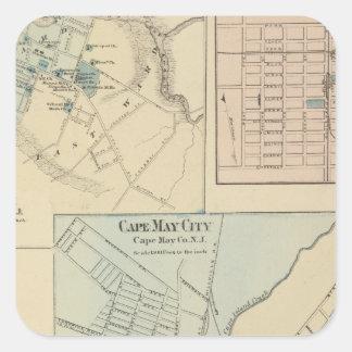 Cape May City, Salem, Vineland, Millville Square Sticker