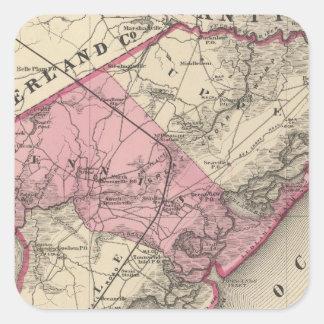 Cape May County, NJ Square Sticker