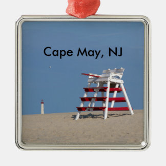 Cape May lifeguard chair Christmas Ornament