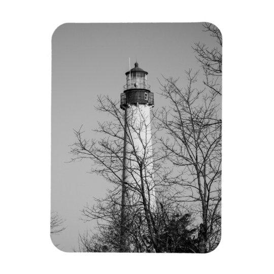 Cape May Light b/w Rectangular Photo Magnet