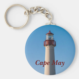 Cape May Light Basic Round Button Key Ring