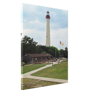 Cape May Lighthouse Stretched Canvas Prints