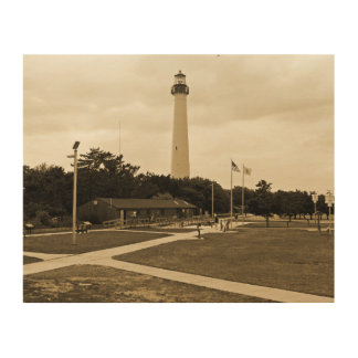 Cape May Lighthouse Wood Canvases