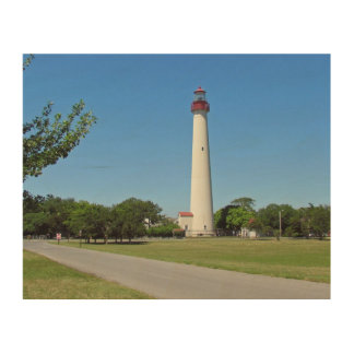 Cape May Lighthouse Wood Prints