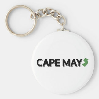 Cape May, New Jersey Basic Round Button Key Ring