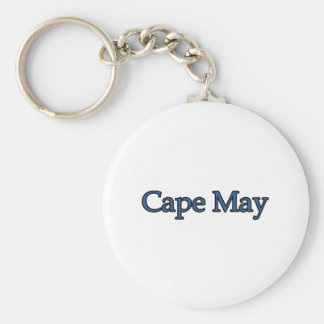 Cape May New Jersey Basic Round Button Key Ring