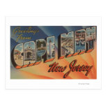 Cape May, New Jersey - Large Letter Scenes Post Card