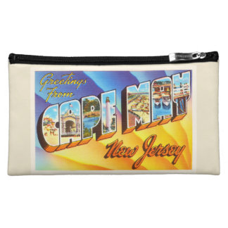 Cape May New Jersey NJ Vintage Travel Postcard- Cosmetics Bags