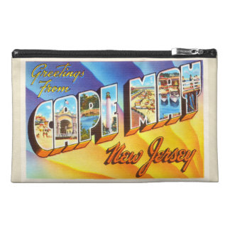 Cape May New Jersey NJ Vintage Travel Postcard- Travel Accessory Bags