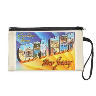 Cape May New Jersey NJ Vintage Travel Postcard- Wristlet Purses