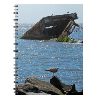 Cape May Shipwreck Spiral Notebook