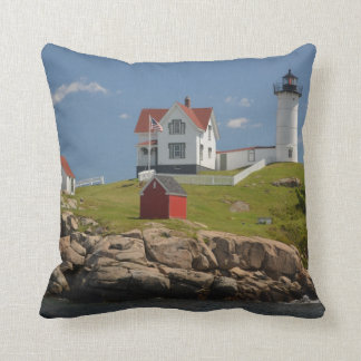 Cape Neddick Lighthouse Cushion