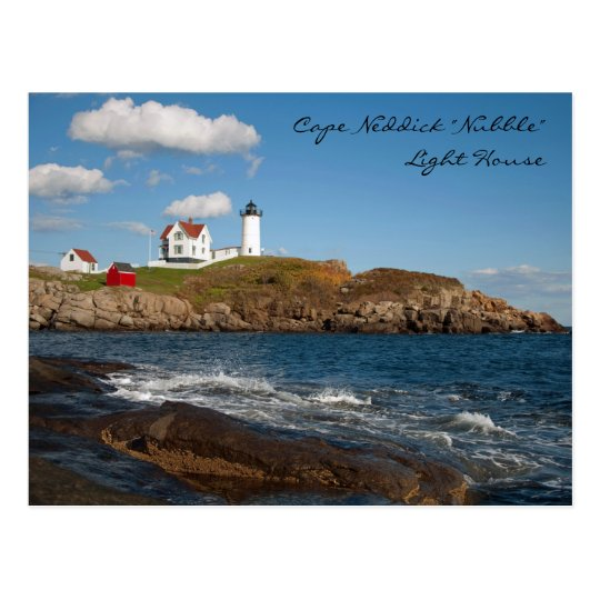 "Cape Neddick ""Nubble"" Light House Postcard"