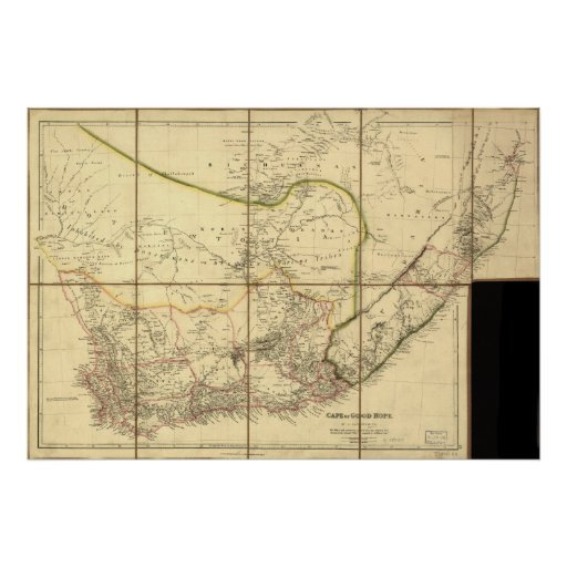 Cape of Good Hope 1842 Antique Map of South Africa Poster