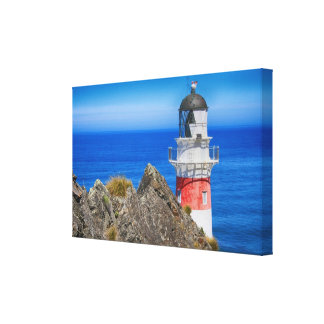 Cape Palliser Lighthouse New Zealand Canvas Wrap