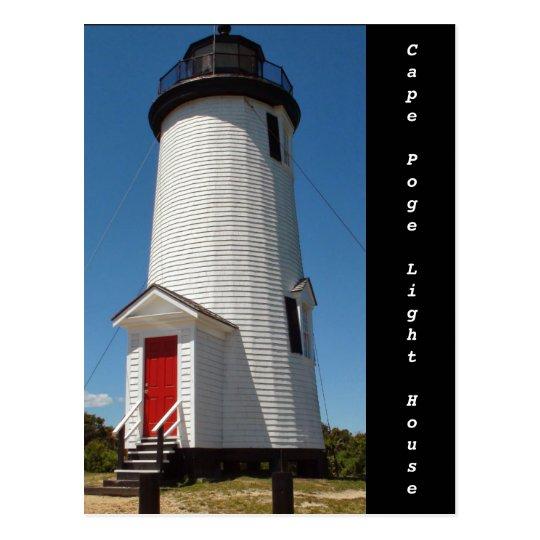 Cape Poge Light House on Chappaquidick Island Postcard