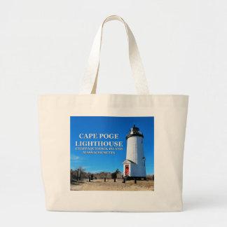 Cape Poge Lighthouse, Massachusetts Chappaquiddick Large Tote Bag