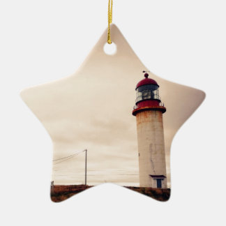 Cape Race Lighthouse Ceramic Star Decoration