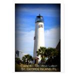 CAPE ST. GEORGE LIGHTHOUSE - ST. GEORGE ISLAND, FL POST CARD