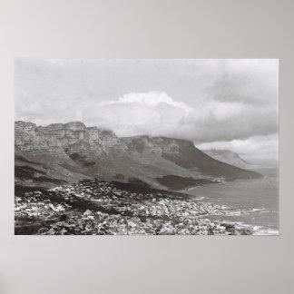 Cape Town 12 Apostles Monochrome Kodak Film Poster