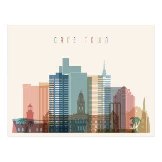 Cape Town, Africa | City Skyline Postcard