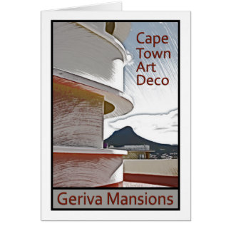 Cape Town Art Deco - Geriva Mansions Greeting Card