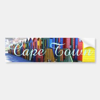 Cape Town Beach Huts Bumper Sticker
