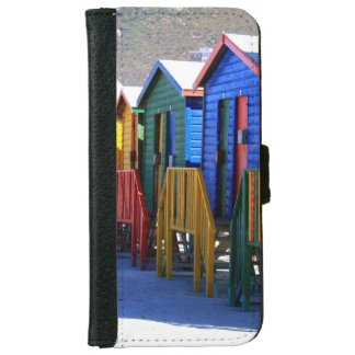 Cape Town Beach Huts iPhone 6 Wallet Case