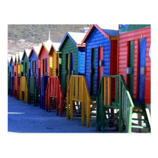 Cape Town Beach Huts Postcard