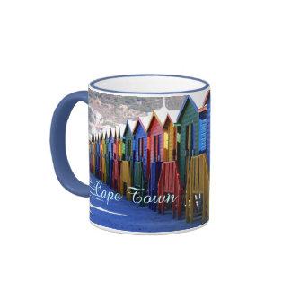 Cape Town Beach Huts Ringer Mug
