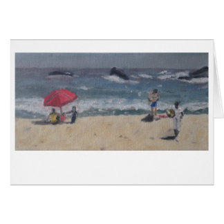 """Cape Town Beach Study"" by Trina Chow Card"