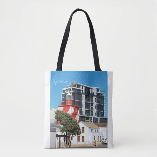 Cape Town Cityscape Lighthouse Tote Bag