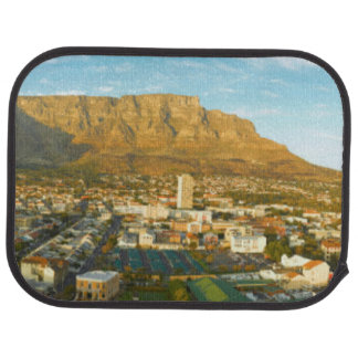 Cape Town Cityscape With Table Mountain Car Mat