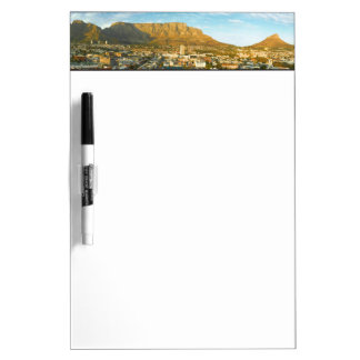 Cape Town Cityscape With Table Mountain Dry Erase Board