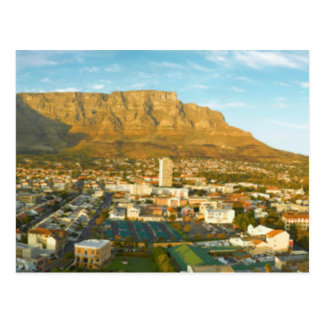 Cape Town Cityscape With Table Mountain Postcard